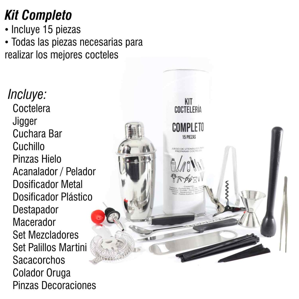 Kit Completo Coctelería