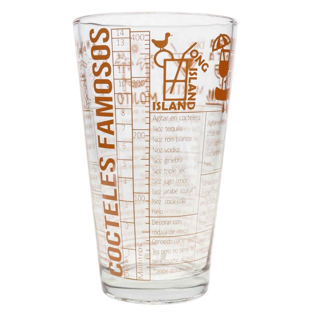 Vaso Boston Vidrio Recetas Coleccionables 4 Vasos