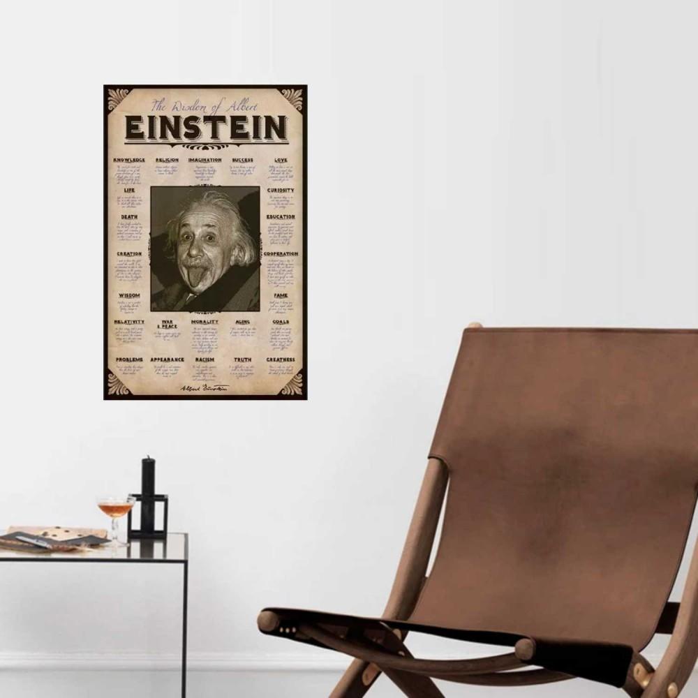Afiche Einstein Sabiduría