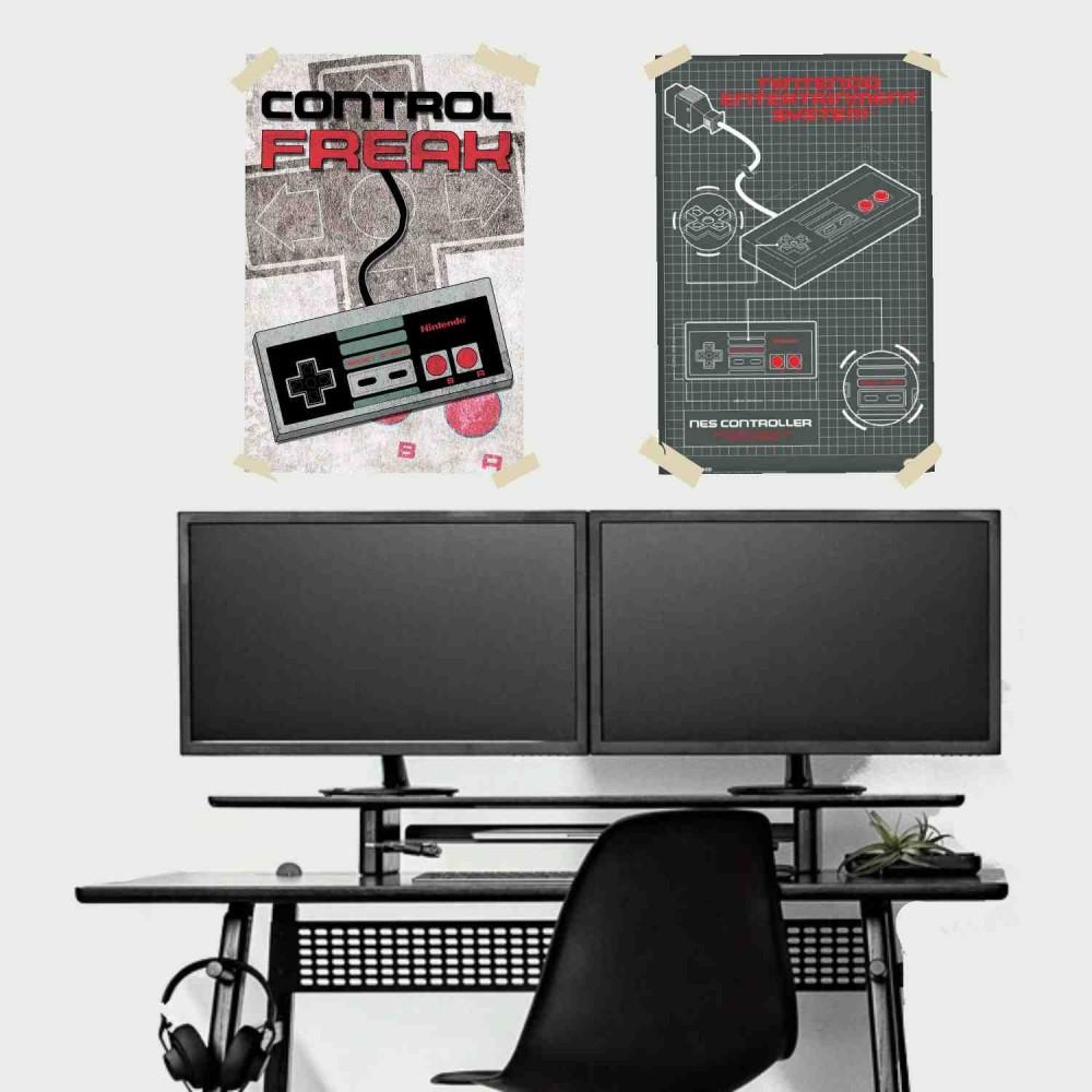 Afiche Nintendo Control Diagrama