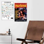 Afiche Pulp Fiction Línea De Tiempo