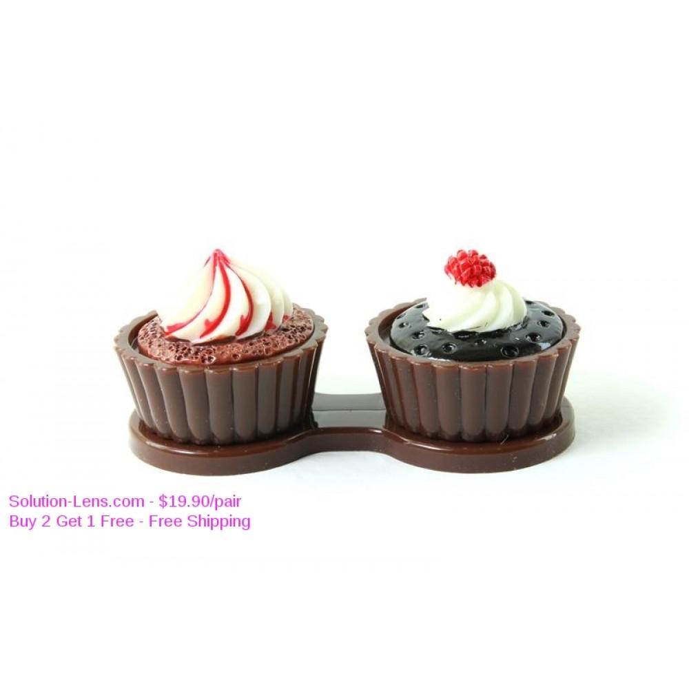 Porta Lentes de Contacto Cupcakes