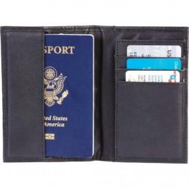 Protector Pasaporte Cuero Negro