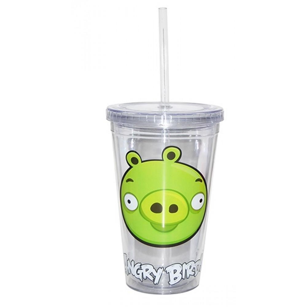 Vaso Plástico Resistente y Reusable Angry Birds