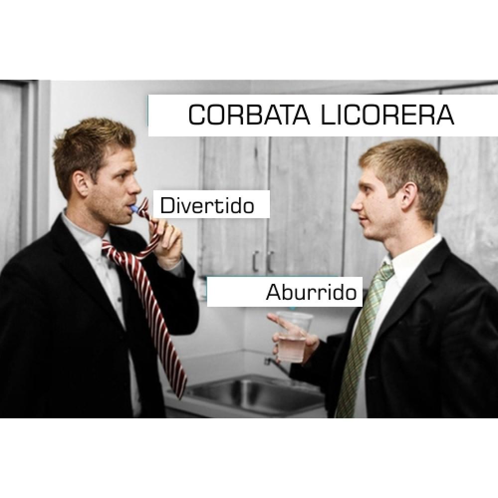 Corbata y Licorera 2 en 1