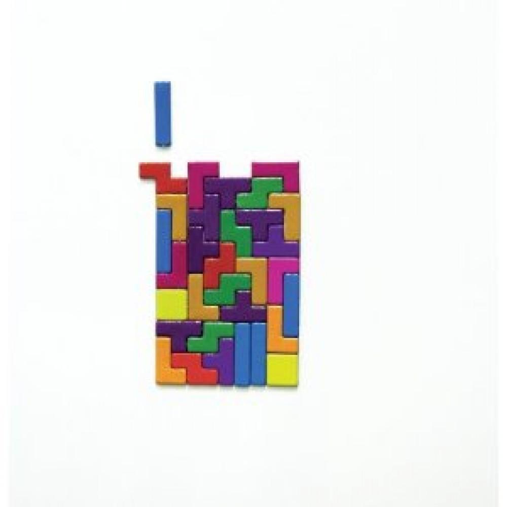 Imanes Tetris Para La Nevera. 49 Figuritas
