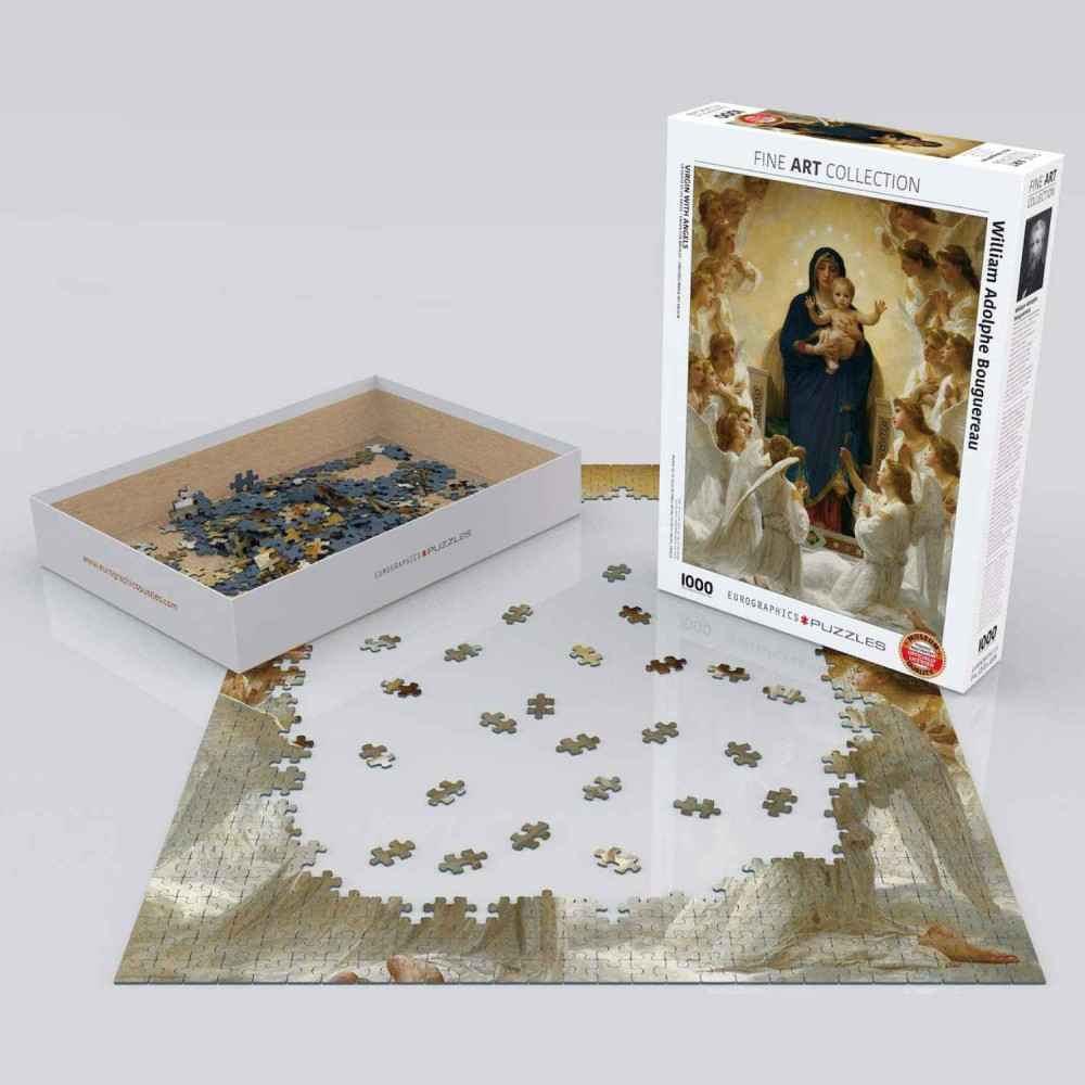 Rompecabezas Virgen Con Ángeles